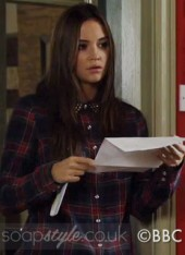 SoapStyle.co.uk - EastEnders - Lauren's Tartan Check Shirt - 17th October