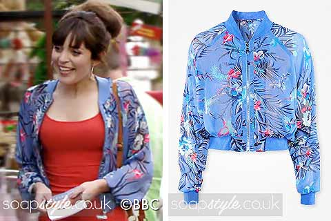 Picture of a match for Poppy's bomber jacket in EastEnders