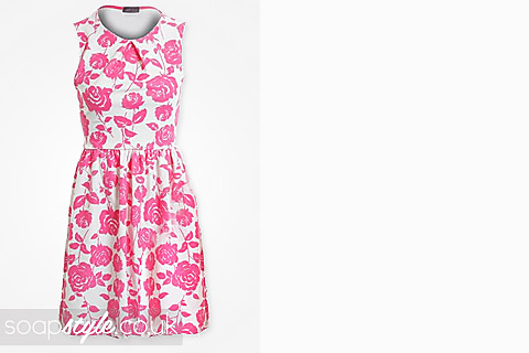 SoapStyle.co.uk - Coronation Street - Eva Price's Pink Rose Dress - 9th September