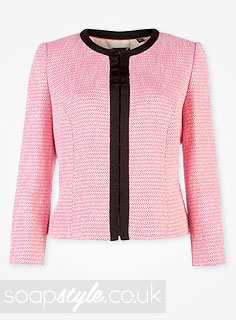 Roxy Mitchell's Pink & Black Blazer Jacket in EastEnders - Details - SoapStyle