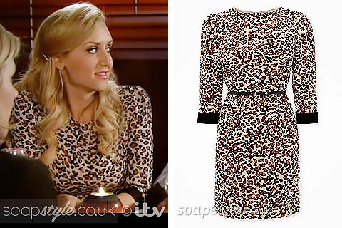 SoapStyle.co.uk - Coronation Street - Eva Price's Leopard Print Dress