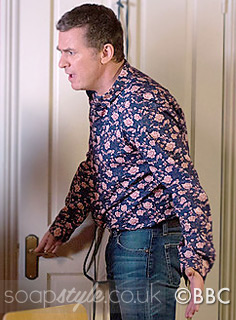SoapStyle.co.uk - EastEnders - Alfie's Blue Floral Shirt