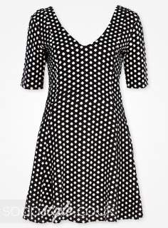 SoapStyle.co.uk - EastEnders - Whitney's Black & White Polka Dot Skater Dress - Where From