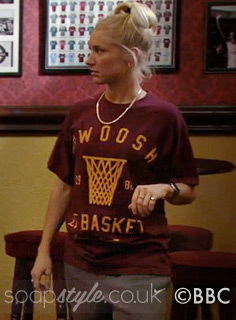 SoapStyle.co.uk - EastEnders - Nancy Carter's Swoosh Basketball T-Shirt - On Screen