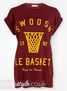 SoapStyle.co.uk - EastEnders - Nancy Carter's Swoosh Basketball T-Shirt - Where From