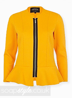 Blessing Chambers' Orange Textured Jacket