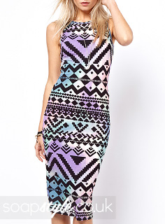 Lindsey's Aztec Print Bodycon Dress