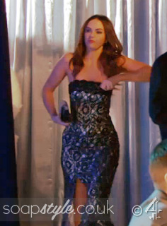 SoapStyle.co.uk - Hollyoaks - Mercedes McQueen's Black Lace Dress - 18th April - On Screen