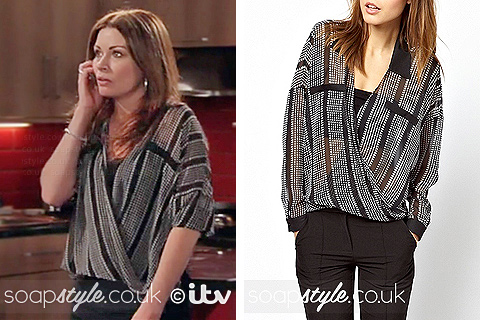 SoapStyle.co.uk - Carla's Black & White Top - 16th May - On Screen