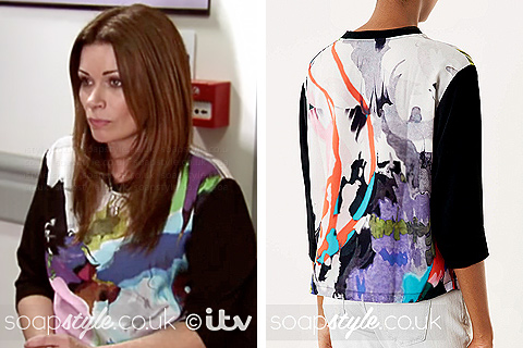 SoapStyle.co.uk - Coronation Street - Carla's Top 12th May - On Screen