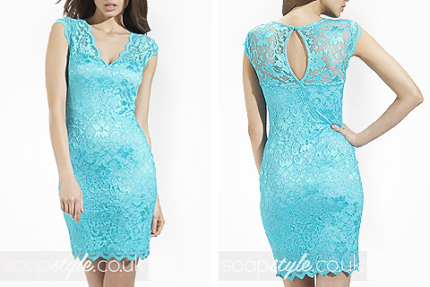 SoapStyle.co.uk - Corrie - Eva's Turquoise Lace Dress - Where From