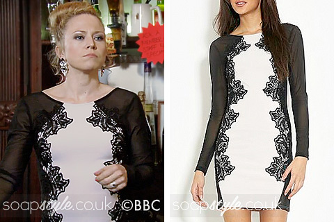 Linda's White & Black Lace Dress