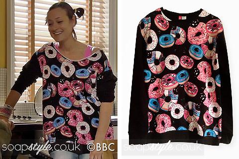 Tina Carter's Doughnut Print Top