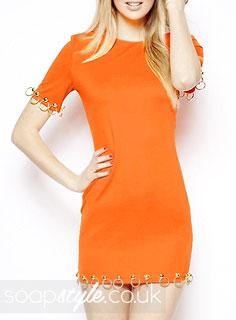 Blessing's Neon Orange Dress