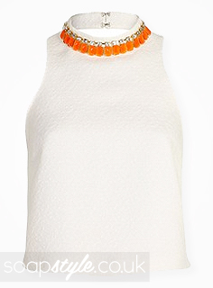SoapStyle.co.uk - Hollyoaks - Carmel's White & Orange Necklace Top - Where From