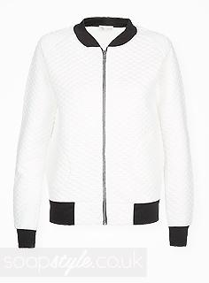 Leela's White Bomber Jacket