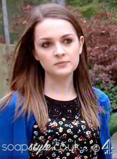 SoapStyle.co.uk - Hollyoaks - Sienna's Black Floral Top - On Screen