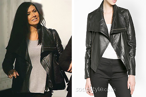 Picture of a match for Michelle's black leather jacket