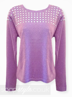 SoapStyle.co.uk - Hollyoaks - Maxine's Lilac / Purple Jumper - Where From