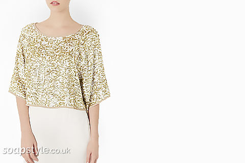 SoapStyle.co.uk - Corrie - Michelle's Gold Sequin Top - Where From