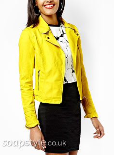 Blessing's Yellow Biker Jacket