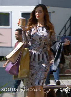 SoapStyle.co.uk - Hollyoaks - Mercedes Floral Stripe Dress