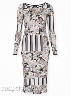 SoapStyle.co.uk - Hollyoaks - Mercedes Floral Stripe Dress - Where From