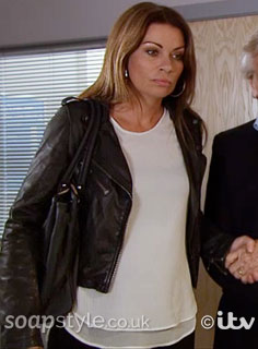 SoapStyle.co.uk - Corrie - Carla's White Layered Top - On Screen