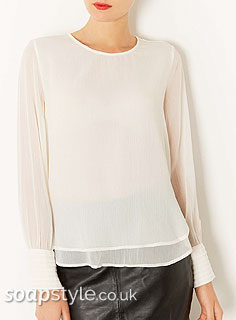 SoapStyle.co.uk - Corrie - Carla's White Layered Top - Where From