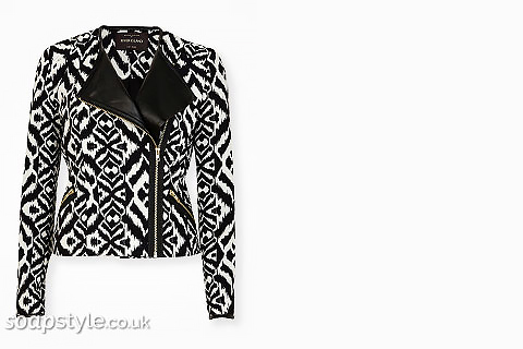 SoapStyle.co.uk - Hollyoaks - Mercedes Black & White Tribal Biker Jacket