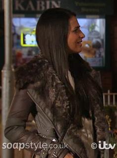 SoapStyle - Corrie - Alya's Grey Jacket / Coat - In Episode