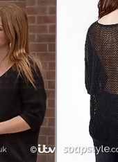 SoapStyle - Corrie - Carla's Black Jumper - In Episode - Front