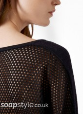 SoapStyle - Corrie - Carla's Black Jumper - Close Up