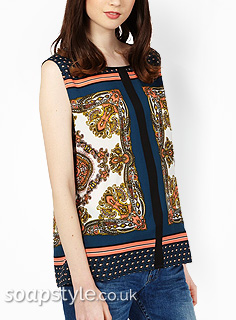 SoapStyle - Corrie - Tracy Scarf Print Vest Top