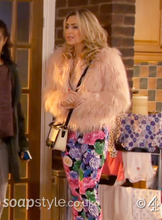 SoapStyle - Hollyoaks - Carmel's Pink Fur Coat - In Episode