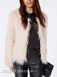SoapStyle - Hollyoaks - Carmel's Pink Fur Coat - Style Match