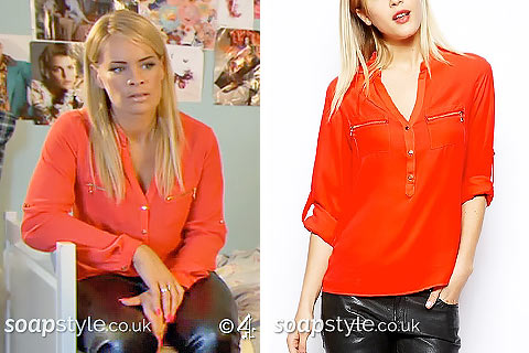SoapStyle - Hollyoaks - Grace's Orange Shirt - In Episode
