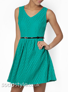 Sienna's Green Skater Dress