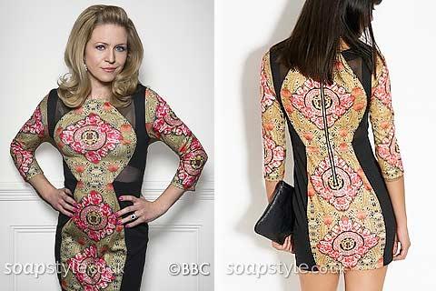 Linda's bodycon dress in EastEnders