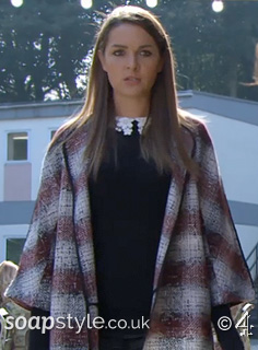 SoapStyle - Hollyoaks - Sienna Red Check Coat - Episode