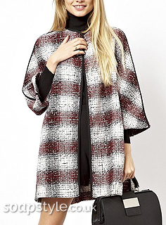 SoapStyle - Hollyoaks - Sienna Red Check Coat
