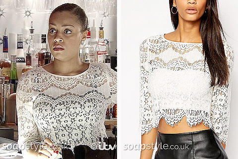 Steph's White Lace Top - Corrie - SoapStyle