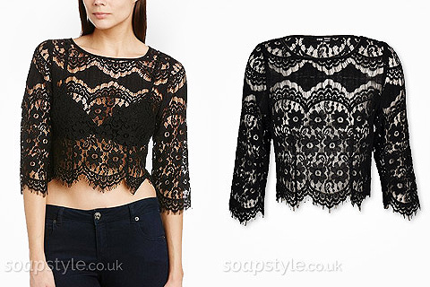 Steph's Black Lace Top - Corrie - SoapStyle