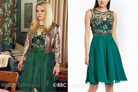 Abi's Green Dress - EastEnders - SoapStyle