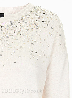 Linda Carter's Sequin Jumper - EastEnders - Close Up - SoapStyle