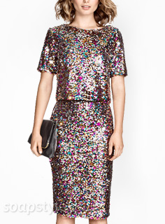 Linda's Multicolour Sequin Outfit - EastEnders - SoapStyle