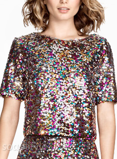 Linda's Multicolour Sequin Outfit - EastEnders - Close Up - SoapStyle