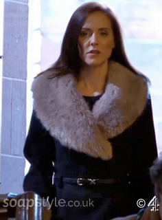 Cindy's Fur Collar Coat - Hollyoaks - Episode - SoapStyle
