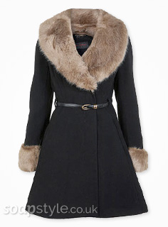 Cindy's Fur Collar Coat - Hollyoaks - SoapStyle