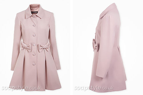 Holly's Pink Bow Coat - Hollyoaks - Where From - SoapStyle